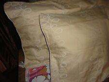 CANDICE OLSON GOLD SWIRL ENTICE (PAIR) WEAVED KING PILLOW SHAM 20 X 36