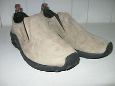 MERRELL Women's Jungle Moc Suede Leather Classic Taupe Slip On Shoe Sz 8