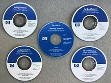 HP QUICK RESTORE SYSTEM RECOVERY CD SET of 4+Operating System CD Windows XP Home