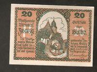 Austria Gutschein d. Marktgemeinde WURNSDORF 20 heller 1920 Austrian Notgeld