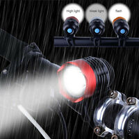 3000 Lumens XML T6 USB Interface LED Bike Bicycle Light Headlamp Headlight 3Mode