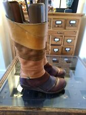 El Naturalista Quirky Leather & Suede Mid Calf Boots Size 37 UK 4