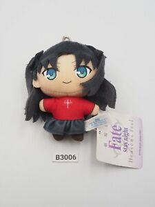 "Fate Stay Night Heaven Feel B3006 Rin Tohsaka SEGA Mascot Toy Doll 4"" Toy Plush"