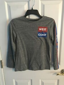 Boys Youth Long Sleeve Top Old Navy Gray West Coast Large 10-12 Gently Used