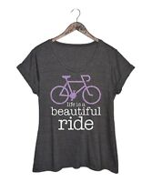 Charcoal Grey T-Shirt Size 18 Ladies Womens Short Sleeved Top