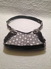Kathy Van Zeeland Small Black/White Shoulder Bag