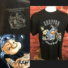 2002 Popeye Motorcycle Chopper Strong To The Finish Mens Shirt 2XL (367)