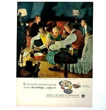 1951 US Brewers Foundation Advertisement MCM Beer and Popcorn Party Vtg Print AD