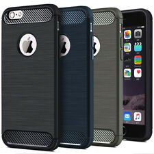 For iPhoneX 8 7 6 6s Plus Shockproof Carbon fiber Thin Hybrid Bumper Case Cover