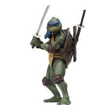 """Teenage Mutant Ninja Turtles 1990 Leonardo 7"""" Action Figure by NECA"""