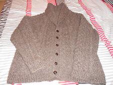 Hand Knitted Vintage Unisex Aran Cardigan
