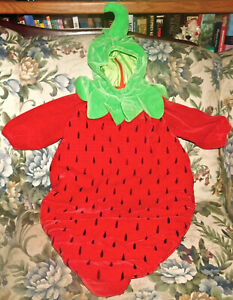 MINI WEAR Strawberry Infant Plush Halloween Costume 6-9 Months Well made Baby