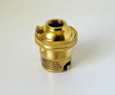 Brass table lamp holder for B22 BC bayonet cap fitting shade ring holder 1/2""