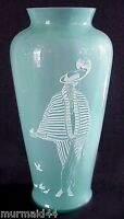Fenton Sand Carved 'Danielle' Vase Sea Mist Green QVC Exclusive Limited Edition