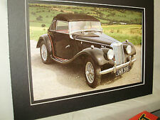 1955 MG TF Midget 1500  60th Anniversary Exhibit Color Poster Automotive Museum