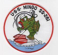 USS Mingo SS 261 - Fish on Torpedo, Whip, Scope BC Patch Cat No B790