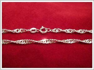 Singapurkette Silber 925, Länge 42 cm, Breite 2 mm
