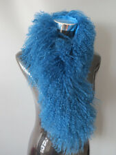 Genuine Mogolian lamb fur scarf /fur collar/ fur wrap /blue cape shipping free