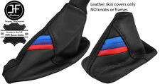 BLACK STITCH M STRIPE TOP GRAIN LTHR AUTOMATIC GAITER SET FOR BMW E60 E61 03-07