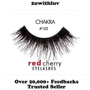 RED CHERRY #DW #WSP #102 #605 100% HUMAN HAIR FALSE EYE LASHES AUTHORISED SELLER