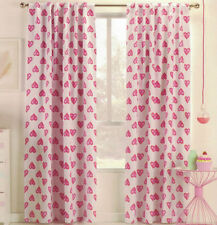 Hearts Unlined Panel Window Curtains