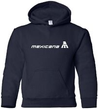 Mexicana Vintage Logo Mexican Airline Hooded Sweatshirt HOODY
