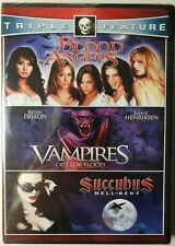 Vampires+Blood Angels+Succubus (DVD 2011, 2 discs) Triple Feature BRAND NEW