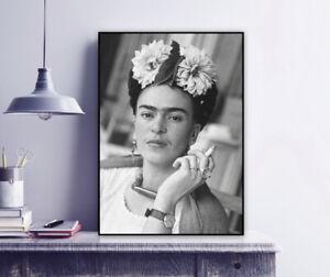 Frida in the dining area, Coyoacán, 1941 - Frida Kahlo Vintage Photo Print