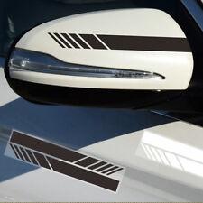 2 Pairs Black Car SUV Vinyl Graphic Mirror Body Stickers Side Stripe DIY Decals