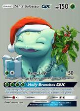 Santa Bulbasaur - Custom Pokemon Card