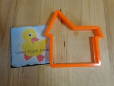 "House Shape Cookie Cutter 4.5"" Orange Plastic"
