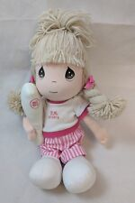 "PRECIOUS MOMENTS Girl w/ Baseball Bat Stuffed Plush Toy Applause 14"" PM Sports"