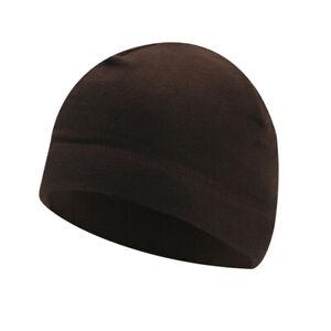 Winter Thermal Fleece Beanie Hat Men Women Outdoor Windproof Ski Soft Skull Cap