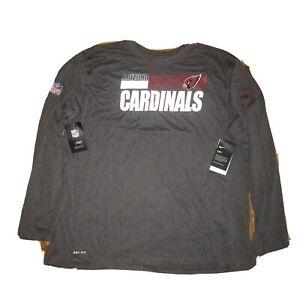 Nike Arizona Cardinals NFL Team On Field Dri-Fit Long Sleeve Shirt XXXL Grey $40