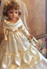 "Vintage 17"" 1950's Sweet Sue All Original Bride Doll In Exc"