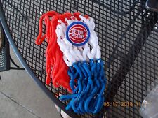 Nylon Basketball Net Red White And Blue With Detroit Pistons Logo New