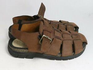 Ecco Men Outdoor Fisherman Leather Hiking Sandals 41 Brown