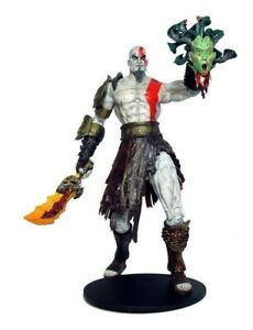 God of War Kratos with Medusa Head and Sword Action Figure 18 cm With Box