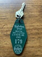 Vintage Holiday Inn Hotel Motel Room Key Fob with Key from Lafayette, IN