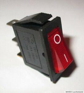 Einbauschalter Geräte Schalter Wippschalter Netzschalter Beleuchtet Schmal 230V