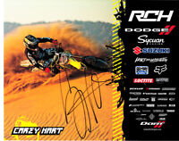 Carey Hart signed autographed auto motocross supercross 8x10 photo card w/ PROOF
