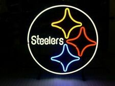 """New Pittsburgh Steelers Man Cave NFL Neon Sign 24""""x20"""""""