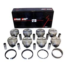 Chevy 383 Flat Top Pistons + Moly Rings Kit STD Stroker