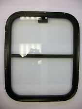 Horsebox Window 18 x 22 Half Drop Black Powder Coated