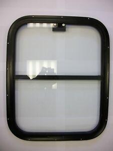 Horsebox Window 18 x 22 Half Drop Black Powder Coated