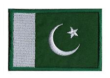 Patch brodé à coudre écusson patche drapeau PAKISTAN 70 x 45 mm Pays Monde