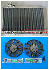For Toyota Cressida MX83 MARK II 7M-GE 3.0 1989-1992 AT/MT Aluminum Radiator+fan