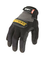 Ironclad  Black/Gray  Men's  Large  Synthetic Leather  Heavy Duty  Gloves