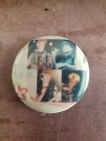 Vintage  pin button pinback the.  U-2 BAND  antique, rare,1980s hard  TO FIND