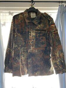 German Army Flecktarn Field Shirt Size Gr 16 XL - 2XL Jacket Camo Military Top